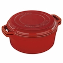 Staub Cast Iron 7-qt Braise & Grill - Visual Imperfections - Red