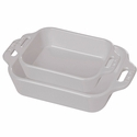 Staub Ceramic 2-pc Rectangular Baking Dish Set - White