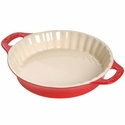 "Staub Ceramic 9"" Pie Dish - Cherry"