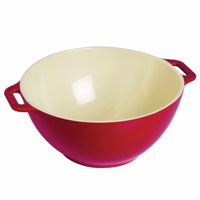 "Staub Ceramic Large Serving Bowl 9.5"", 3.4Qt, Cherry"