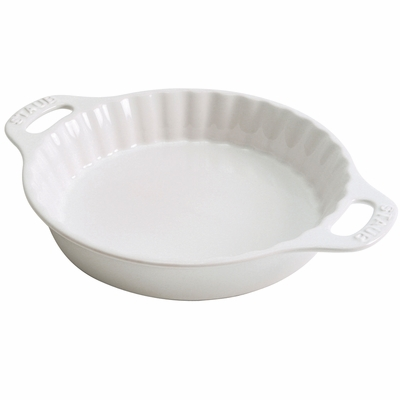 "Staub Ceramic 9"" Pie Dish - White"