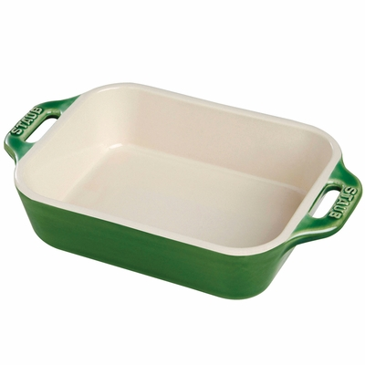 "Staub Ceramic 13"" x 9"" Rectangular Baking Dish - Basil"