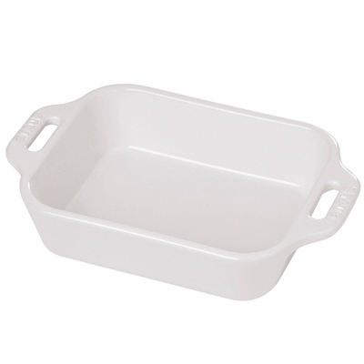 "Staub Ceramic 5.5"" x 4"" Rectangular Baking Dish - White"
