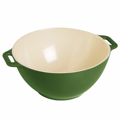 "Staub Ceramic Small Serving Bowl 7"", 1.5Qt, Basil"