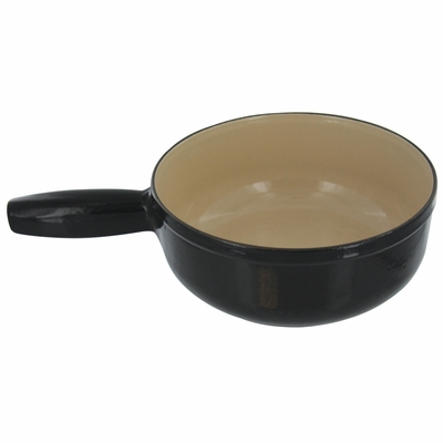 Staub Cheese Fondue Pot 20 cm - Black with Cream Inside