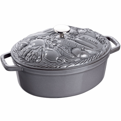 Vegetable Cocotte 4.25QT - Graphite Grey
