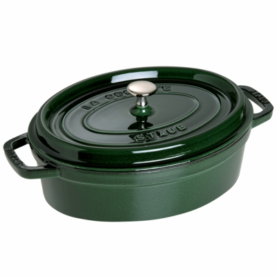 Wide Oval Oven - Shallow Cocotte, 4QT, Basil
