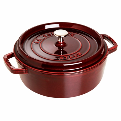 Wide Round Oven - Shallow Cocotte, 4QT, Grenadine