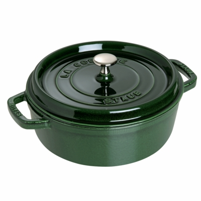 Wide Round Oven - Shallow Cocotte, 6QT, Basil