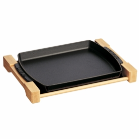 Wooden Plate,1 QT Black