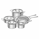 ZWILLING Aurora 5-ply 10-pc Stainless Steel Cookware Set