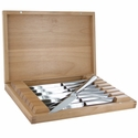 ZWILLING J.A. Henckels 8-pc Stainless Steel Steak Knife Set with Wood Presentation Case