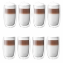 Zwilling J.A. Henckels Sorrento 8-pc Double-Wall Glass Latte Cup Set