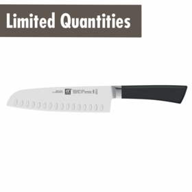 "ZWILLING� One 7"" Santoku Knife Hollow Edge"