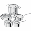 ZWILLING Sensation 5-ply 10-pc Stainless Steel Cookware Set