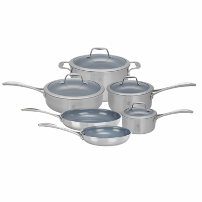 ZWILLING Spirit Tri-ply Thermolon Nonstick 10-pc Stainless Steel Thermolon Nonstick Cookware Set