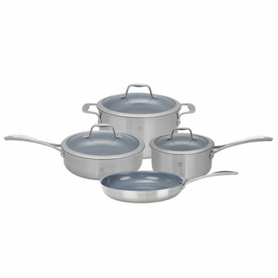 ZWILLING Spirit Tri-ply Thermolon Nonstick 7-pc Stainless Steel Thermolon Nonstick Cookware Set