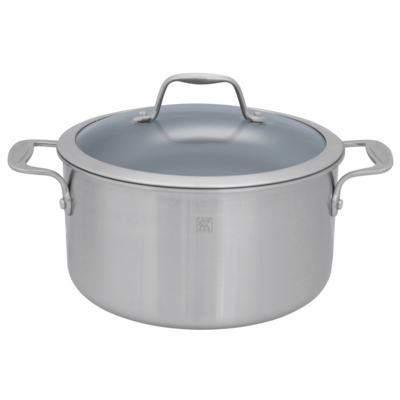 ZWILLING Spirit Tri-ply Thermolon Nonstick 6-qt Stainless Steel Thermolon Nonstick Dutch Oven