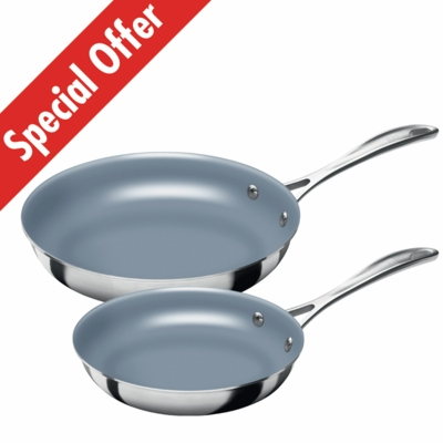 ZWILLING<sup>�</sup> Spirit Fry Pan 2 Pack 8&quot; & 10&quot; - Thermolon Coated