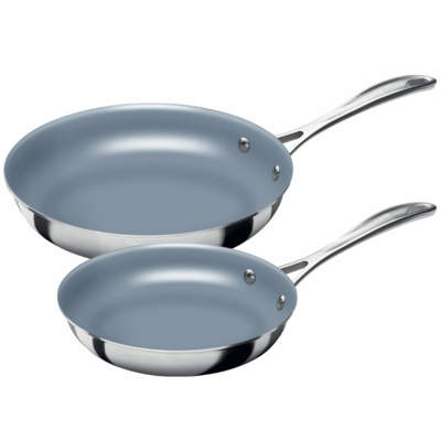 ZWILLING Spirit Tri-ply 2-pc Stainless Steel Thermolon Nonstick Fry Pan Set