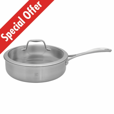 ZWILLING<sup>�</sup> Spirit Polished 3Qt Saut� Pan with Lid
