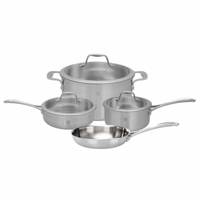 ZWILLING Spirit Tri-ply 7-pc Stainless Steel Cookware Set