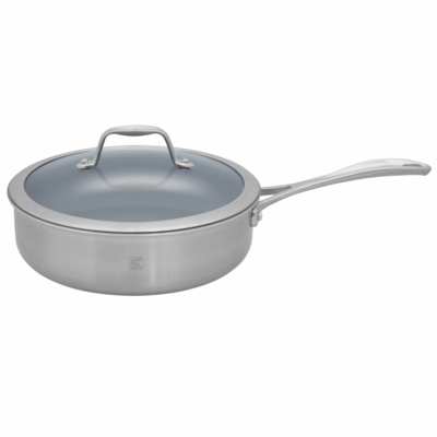 ZWILLING<sup>�</sup> Spirit Saut� Pan 3QT with Lid - Thermolon Coated