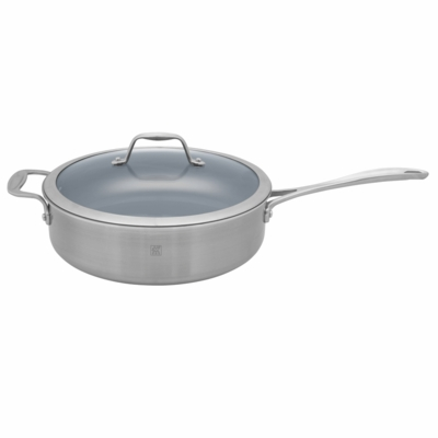 ZWILLING Spirit Tri-ply Thermolon Nonstick 5-qt Stainless Steel Thermolon Nonstick Saute Pan