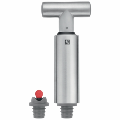 ZWILLING J.A. HENCKELS Sommelier Accessories 3-pc Stainless Steel Wine Vacuum Pump & Stopper Set
