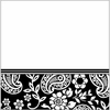 Black and White Paisley Lunch Napkins 16 Pack