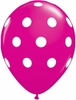 Hot Pink Polka Dot Latex Balloons 6 Pack