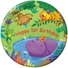 "Jungle Buddies 1st Birthday 9"" Lunch Plates 8 Pack"