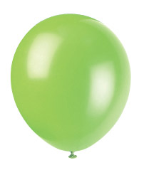 "Lime Green 12"" Latex Balloon 10 Count"