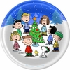 "Peanuts Peace and Goodwill 9"" Lunch Plates 8 Pack"
