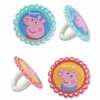 Peppa Pig Cupcake Rings 12 Pack