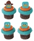 Phineas & Ferb Agent P Faces Cupcake Rings 12 Pack