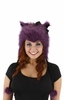 Purple Kitty Hoodie Hat