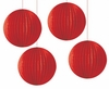 "Red 6.5"" Party Lantern Decoration 4 Pack"