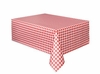 Red Gingham Printed Plastic Tablecover