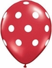 Ruby Red Polka Dot Latex Balloons 6 Pack