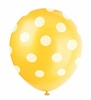 Sunflower Yellow Polka Dot Latex Balloons 6 Pack