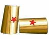 Super Hero Gold and Red Star Cuffs *COUPON*