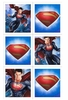 Superman Man of Steel Party Sticker Sheets 4 Pack