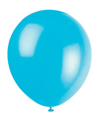 "Teal 12"" Latex Balloon 10 Count"