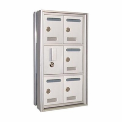 10 Door Mini-Storage Lockers - 5 x 2 with C Size Doors Recess Mount