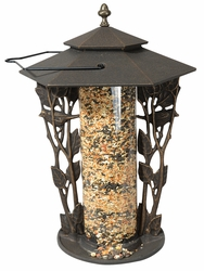 "12"" Chickadee Silhouette Feeder - Copper Verdi"