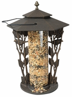 "12"" Chickadee Silhouette Feeder - Oil Rub Bronze"