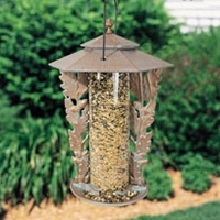 "12"" Oakleaf Silhouette Feeder - Oil Rub Bronze"
