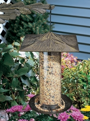 "12"" Pinecone Tube Feeder - Oil Rub Bronze"