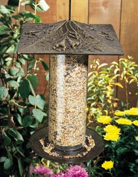 "12"" Trumpet Vine Tube Feeder - Copper Verdi"